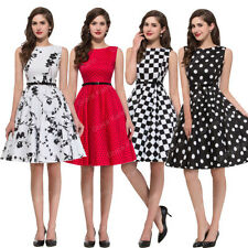 ♥ 50s 60s ♥Vintage Style Pinup Swing Rockabilly TEA Evening Prom Dress Plus Size