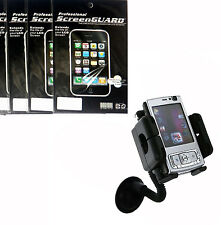 Car Cradle Mount Holder + 3x Screen Protector Film FOR Cell Phones 2015 new