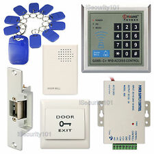 DIY Access Contro RFID Card Door Entry Keypad Kit with Electric NC Strike Lock