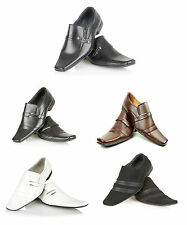Mens Dress Shoes Slip On Oxford Smart Office Formal Work Wedding Size UK 6-11