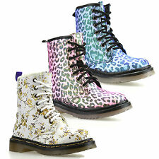 Girls Kids Childrens Infants New Lace Zip Up Casual Ankle Biker Boots Shoes Size