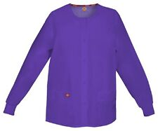 Scrubs Dickies EDS Snap Front Warm-Up Jacket 86306 Grape GPWZ  FREE SHIPPING!