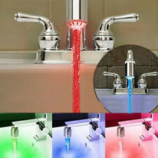 Elegant 3 Color Sensor LED Light Water Faucet Tap Temperature For Bathroom