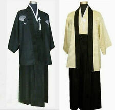 Hot New Style Men's Yukata Japanese Haori Kimono Robe Cosplay Costume one size