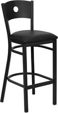 Pro-Tough Heavy Duty Metal Bar Stool with Circle Back
