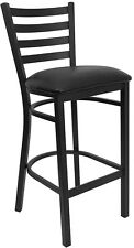Pro-Tough Heavy Duty Metal Bar Stool with Ladder Back