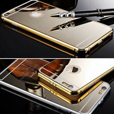 Metal Bumper Mirror / Clear Hard Case Cover Skin Protector fr iPhone 6 6S 7 Plus
