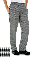 CHEFS TROUSERS, BLACK & WHITE SMALL CHECK, HOUNDSTOOTH PRINT, APRONS, CAP INS01H