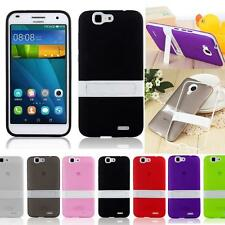 Protective Hybrid Impact Kickstand TPU Cell Case Cover Skin For Huawei Ascend G7
