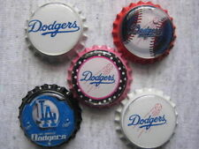 LA Dodgers Scrapbooking Crafts Bottle Caps Set #10 - Flattened/Non Flattened