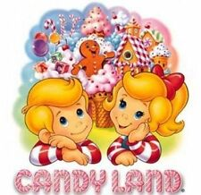 Candyland Candy Land Board Game Iron On T Shirt / Pillowcase Fabric Transfer #1