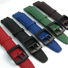 Genuine Leather Band Strap to fit Standard Swatch Watch 17mm choice of colors