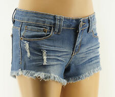 Wishful Park Jean Shorts Juniors Destroyed Blue Denim