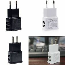 2.1A/1A Dual 2-Port USB Wall Adapter Charger For iPhone Samsung MP3 US/EU Plug