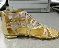 Girls gold shoes sandals toddler and youth kids sizes