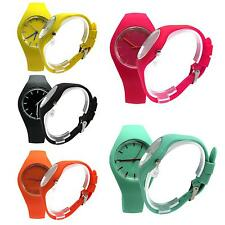 Candy Color Silicone Band Quartz Pointer Watch Women Girl Jelly Sport Wristwatch
