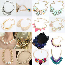 Necklace Statement Jewelry Fashion Women Crystal Choker Chunky Pendant  Bib New