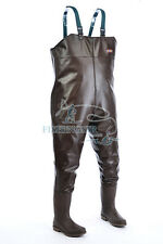 Rubber Boot-Foot Chest Waders Waterproof Fishing Hunting Boot Waders, Size 8-11