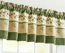 TUSCAN ITALIAN MEDITERRANEAN OLIVE Kitchen Curtains VALANCE OR TIERS SET