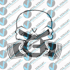 cummins gas mask piston mask decal sticker indoor outdoor