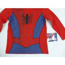 SPIDERMAN BOYS LONG SLEEVE T SHIRT RED AND BLUE WITH SPIDER SIZES  3, 4, 5, 6