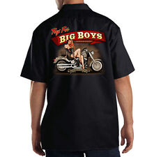 Dickies Black Mechanic Work Shirt Toys For Big Boys Motorcycle Biker Girl
