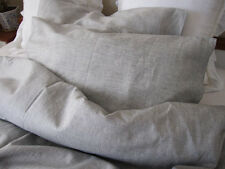100% Eco Pure Flax Linen TWIN Size Bedding Set Natural Grey/Gray/Oatmeal Color
