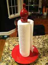 paper towel holder made with fiesta plate