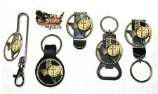 Texas Rope and Cross Concho with Bottle Opener Key Fob Key Holder or Money Clip