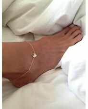 New Beach Fashion Sexy Ankle Bracelet Chain Link Foot Love Gold Tone Jewelry UK