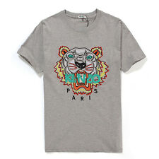 2015 NEW summer embroidery TIGER HEAD kenzo8 Graphic Tee Cotton t Shirt