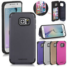 For Samsung Galaxy S6 Edge Hybrid Shockproof Card Slot Case Cover Stand Poweradd