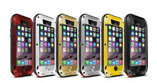 Armor Aluminum Metallic Bumper Gorilla Glass Waterproof Case Cover For iPhone