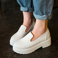New Arrival Fashion Women Platform Pumps All-Mathed Casual Shoes 2 Color 5 Size