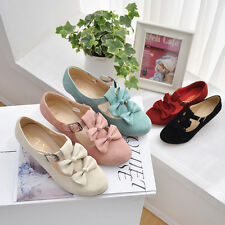 Womens Lolita Pumps Sweety Bowknot Mid Heels Shoes Plus Size Free shipping