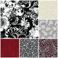 BLACK TIE AFFAIR Collection for Fabri-Quilt Black White Red Fabric by Yard