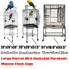 "59"" / 57.5"" / 53.5"" Large Bird Cage Parrot Finch Cockatoo Play stand  Top Perch"