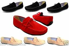 MENS ITALIAN LOAFERS MOCCASIN TASSEL DRIVING  FORMAL CASUAL PARTY SLIP ON SHOES