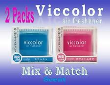 2 Pack Diax VICCOLOR Air Freshener JDM  Mix & Match Scent- Multi Color