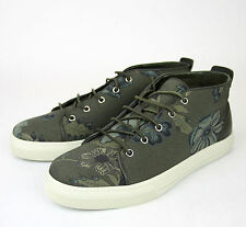 New Authentic Gucci Mens Green Floral Fabric Lace-up Sneaker, 342048 3364