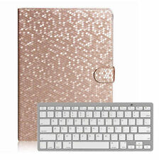 Bluetooth Keyboard+Bling Luxury Leather Case Cover for Apple iPad air 2 iPad 6