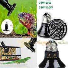 220V-240V 25/50/75/100W Infrared Ceramic Emitter Heated Pet Reptile Light Bulb