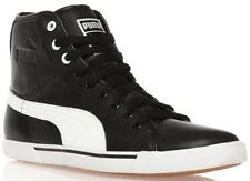 PUMA MENS BENECIO MID TOPS LEATHER BLACK TRAINERS uk10 less than half price