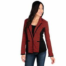 Kate & Mallory Ponte Knit One-Button Two-Pocket Striped Blazer NWOT