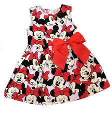 Lovely Cartoon Mickey Minnie Animal Party Outfit Dress For 1~6 Years Old Girls
