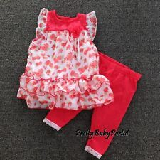 NEW GIRLS Baby Toddler Kid's Clothes Floral Chiffon Tops+ Leggings Set
