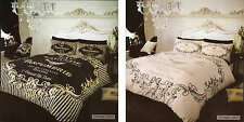 Vintage Label Duvet Cover Quilt Cover Bedding Set Double King New Design