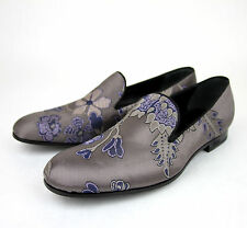 New Authentic Gucci Mens Satin Floral Slip On Loafer 337030 5460