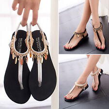 Ankle Straps Women Flat Sandals Summer Shoes Beach Flip Flop Beho Tong Slippers