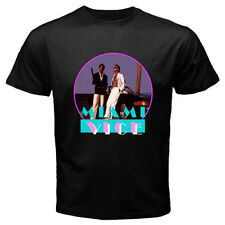 New MIAMI VICE Retro TV Series Don Johnson Men's Black T-Shirt Size S to 3XL